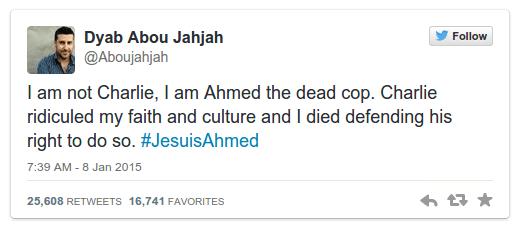 #JeSuisCharlie — #JeSuisAhmed