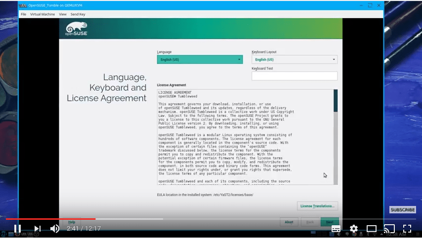 Installing OpenSUSE Tumbleweed