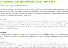 HoT-blog: Matching of brands and artist