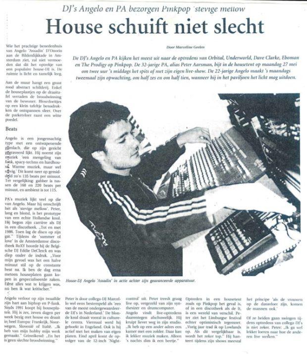 Dj Angelo d'Onorio 1996 interview