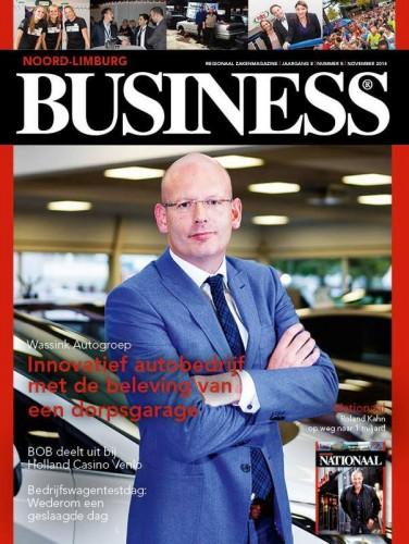 wassink autogroep, Wassink Autogroep (directeur Chiel van Zeijl) op cover Business magazine