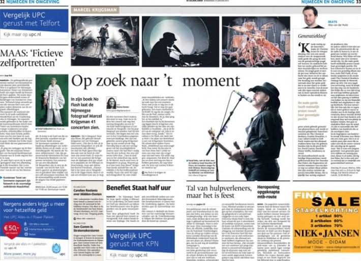 Marcel Krijgsman met groot interview in dagblad De Gelderlander