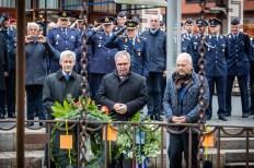 Herdenking 75 jaar bombardement Nijmegen: kranslegging Duitse veteranen door Marcel Krijgsman