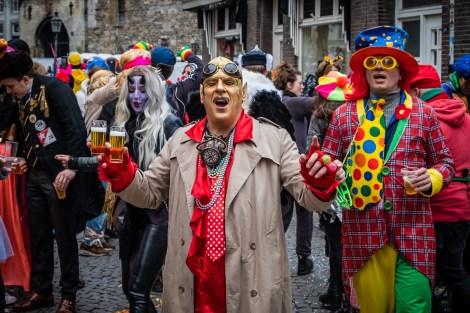 Carnaval, Carnaval in Lampegat, Mestreech en Oeteldonk: feest, feest en feest