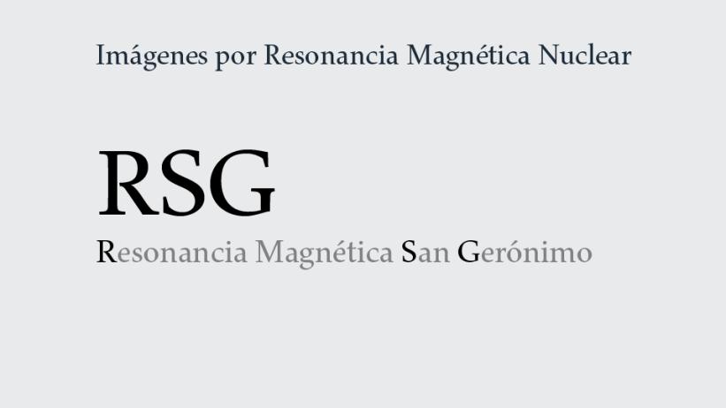 Servicio de Imágenes por Resonancia Magnética Nuclear: RSG.