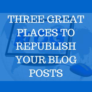 Republishing Blog Posts