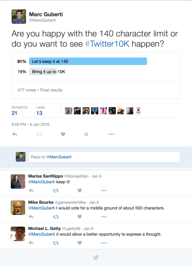 #Twitter10K Poll