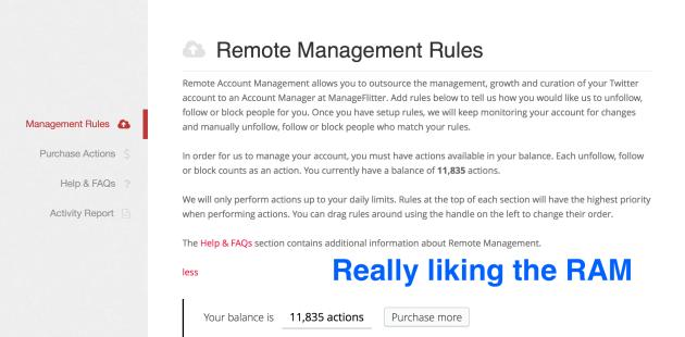 ManageFlitter RAM