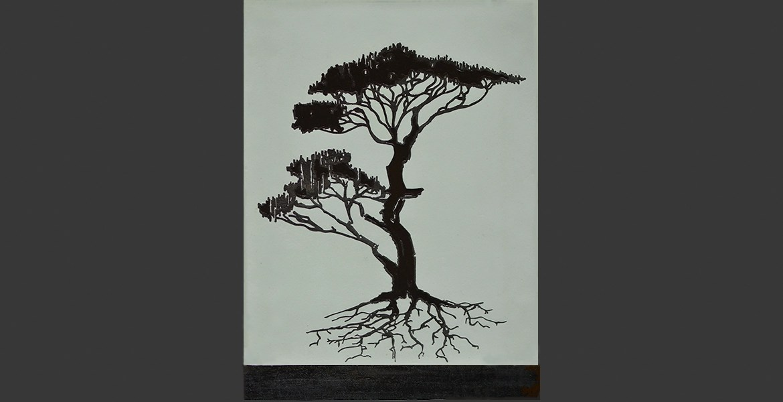 arbre4 noir - ébène