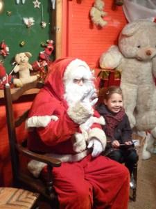 Le Père Noël dans sa maison