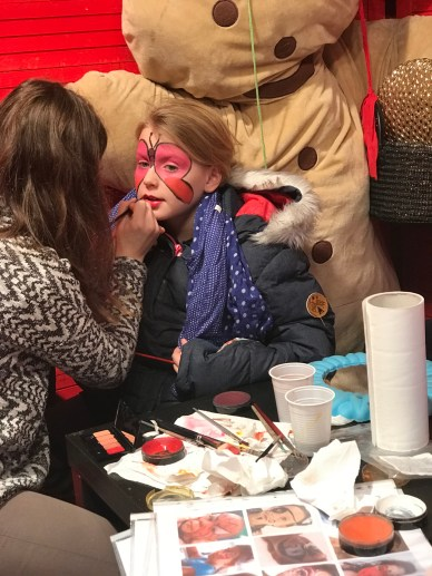 Séances de maquillage offerte par le Marché de Noël