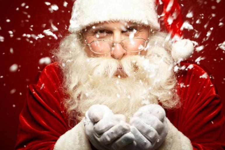 Père Noël au marché de noël de Nantes