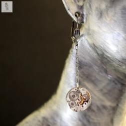 3a boucles d oreille petit mouvement rond la manufacture de lady s bijoux steampunk