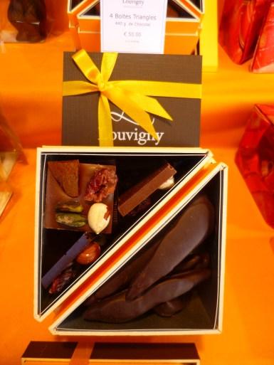 Chalet de chocolats au marché de noël d'Angers