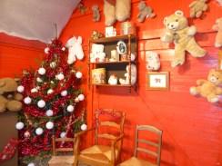 Décorations de la maison du Père-Noël