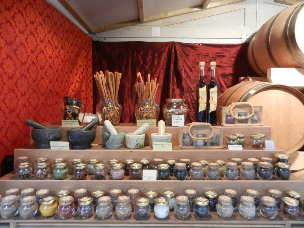 Chalet d'épices sur le marché de noël de Rouen