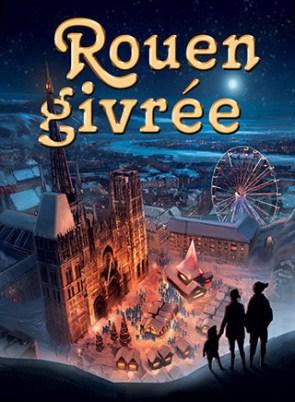 Affiche Rouen givrée