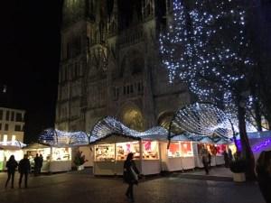 Marché de Noël de Rouen la nuit