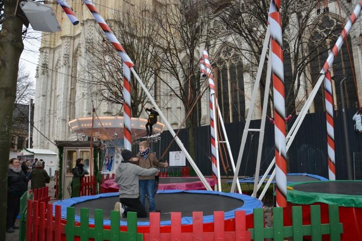 Le trampoline de Noël à Rouen