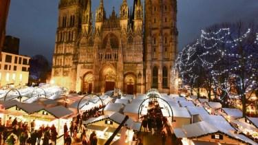 Vue d'ensemble du marché de noël de Rouen