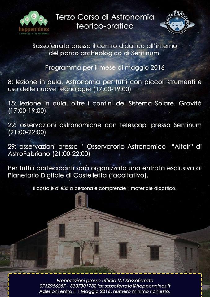 corso astronomia