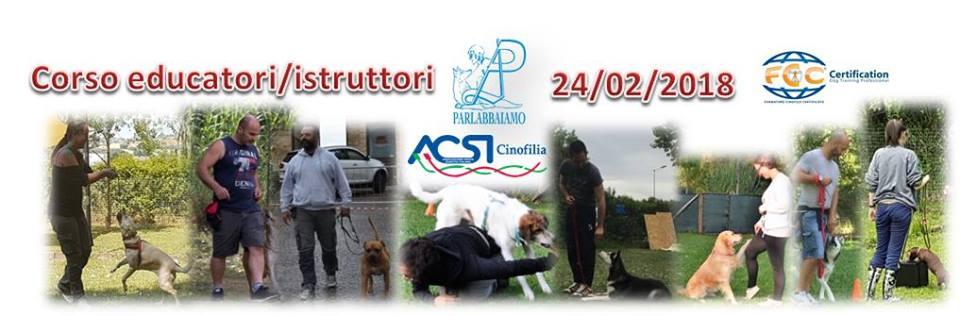 CORSO Educatori/ Istruttori Cinofili 2018