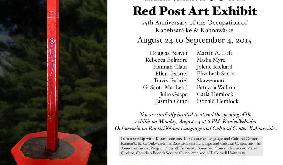 Powerful reflections on the Oka Crisis at Red Post Art Exhibit