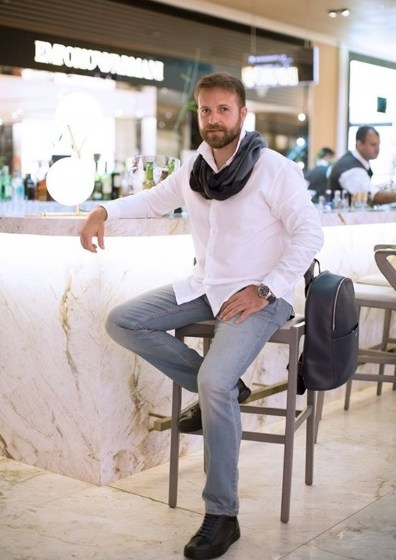chef Marcelo Martino com styling de Marcia Hamaoka para Village Mall