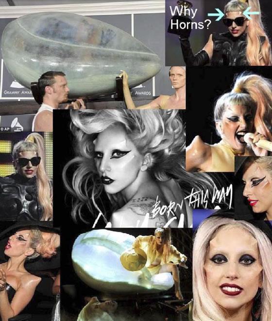 Lady Gaga con cuernos