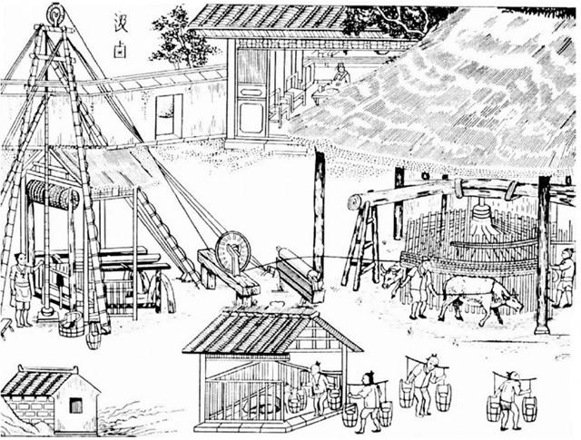 chinos extraen sal antiguedad