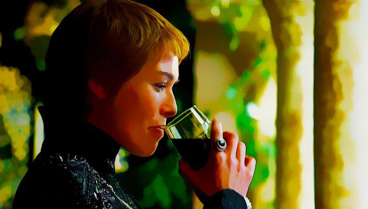 cersei lannister tomando copa dibujo