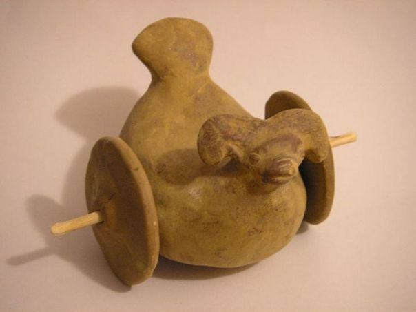 Juguete encontrado en la región de Mohenjo Daro.
