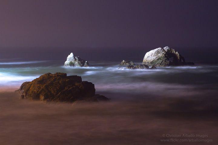 playa-por-la-noche