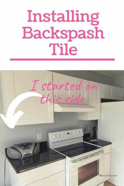 pin about installing kitchen backsplash