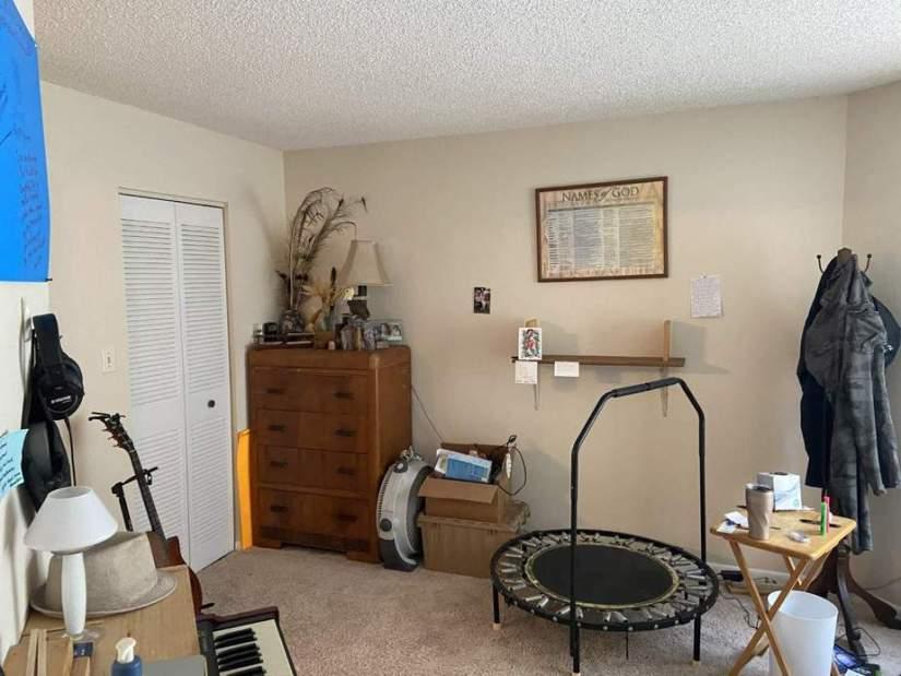 bedroom before condo flip
