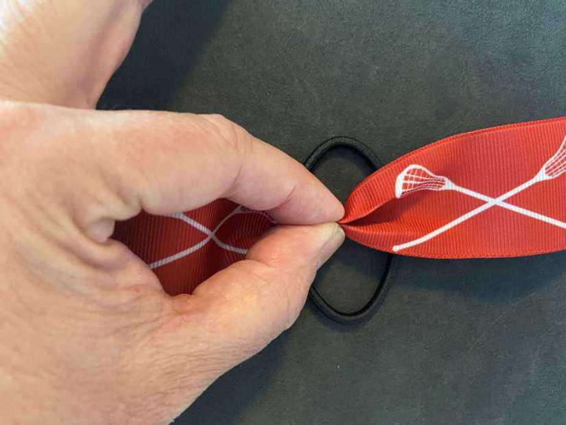 lacrosse ribbon hair tie
