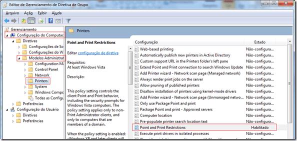 Como permitir que usuários instalem impressoras de rede (1/4)