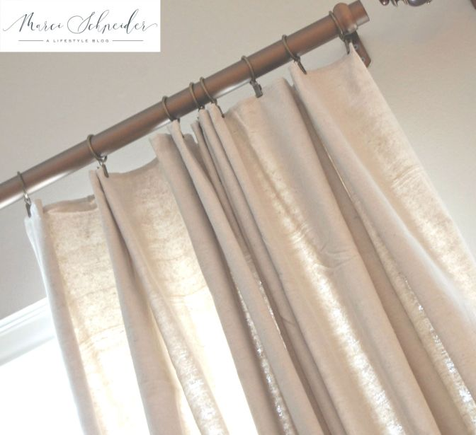 Drop Cloth Curtains Easy Diy No Sewing Marci Schneider