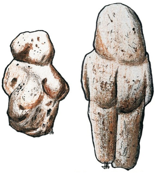 The oldest statuettes adapted by man