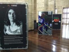 Photo installation in Sao Paulo city hall on Bracos Abertos program