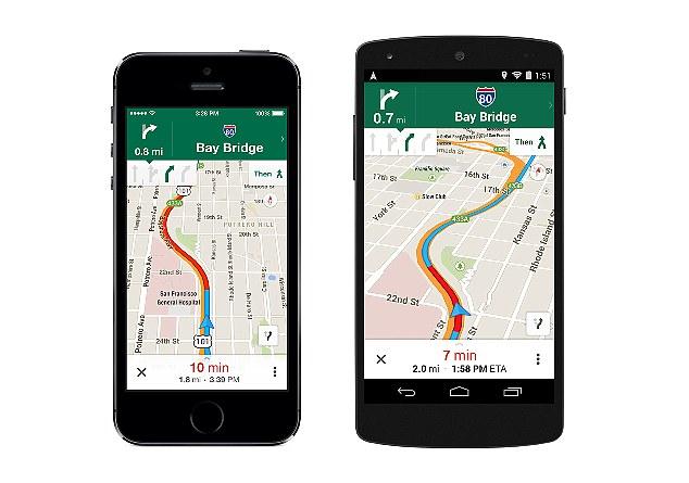 Google Maps mis à jour sur Android et iOS