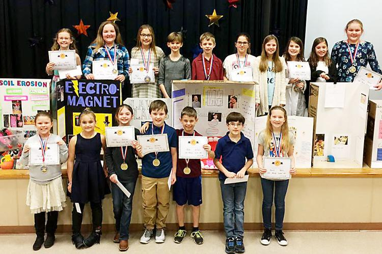Marclay Science Fair Students - Photo credit HeraldStandard.com