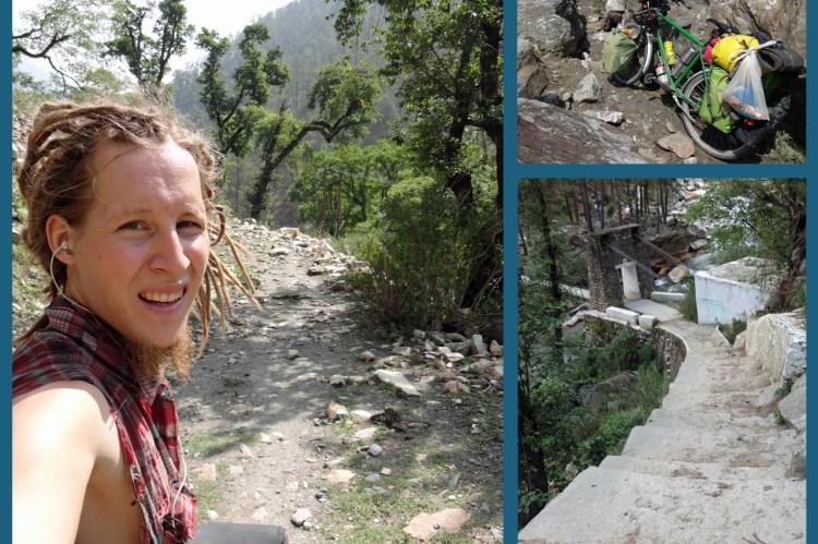 """Laut Google Maps gibt es ausser dem Chanshal Pass noch eine weitere mit dem Auto befahrbare Strasse, die zur Ortschaft Dodra führt - doch diese """"Strasse"""" war lediglich ein Trekkingpfad."""