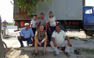 Usbekische Melonenverkäufer (5. September 2015)