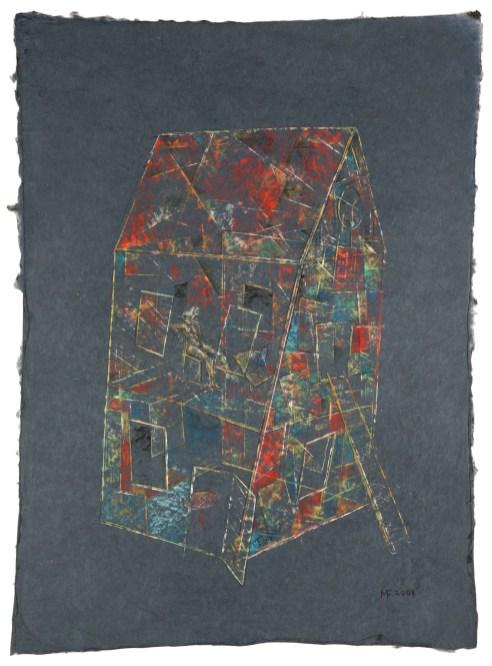 Die Leiter, 2007, Pastell, 57 x 57