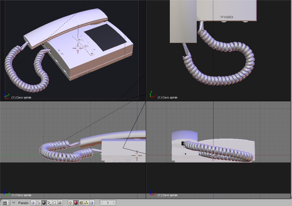 Tutorial: how to model (and render) a realistic spiral cable in Blender (and Yafaray)/2 (3/5)