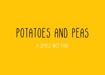 Potatoes and peas