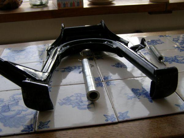 middenbok cx500 cx500c, zwart poedercoat