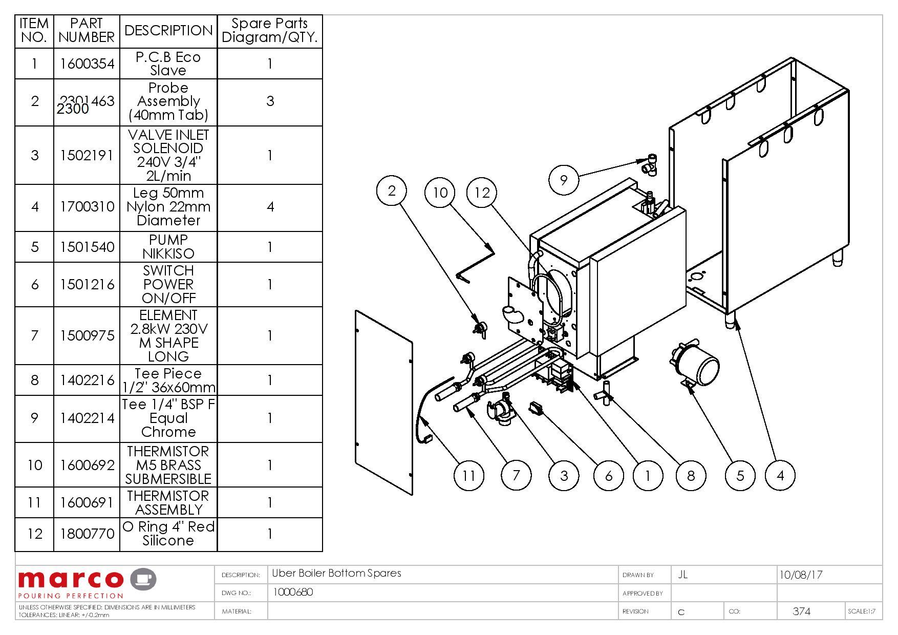 Boiler Spare Parts List