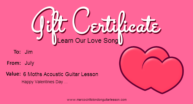 Valentines Day Guitar Lesson Gift Certificate - Easter Guitar Lesson Gift Certificate - Mothers Day Guitar Lesson Gift Certificate - Fathers Day Guitar Lesson Gift Certificate - Halloween Guitar Lesson Gift Certificate -